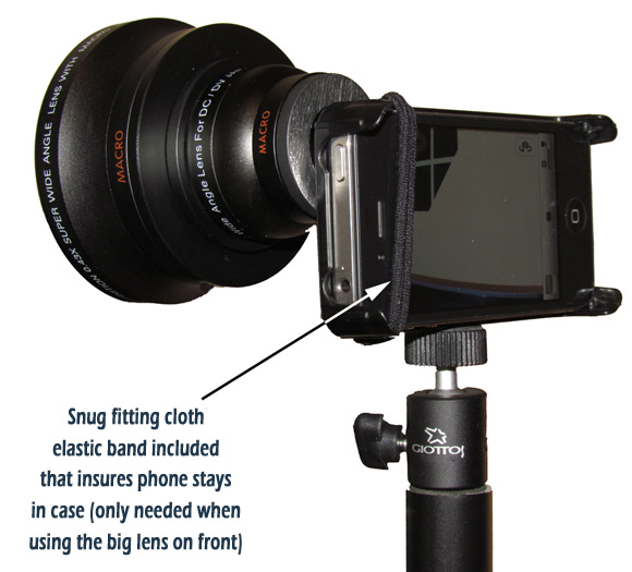 wide angle lens back view
