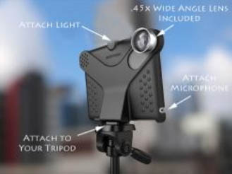 iPad 2 Movie Mount System with Wide Angle Lens