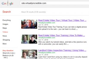 Google list of indexed videos