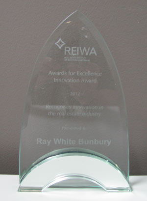 Ray White Bunbury Receive Award