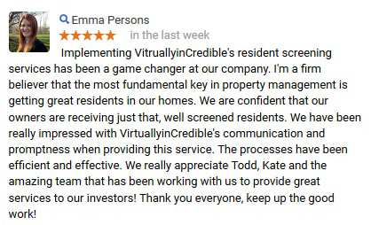 Emma Persons Google Review Tenant Screening