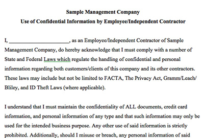 Tenant Screening Service VirtuallyIncredible – Staff Confidentiality Agreement