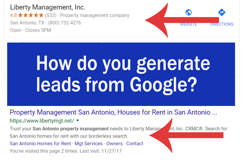 How do you generate leads from Google? Important of natural search rank and map pins in Google