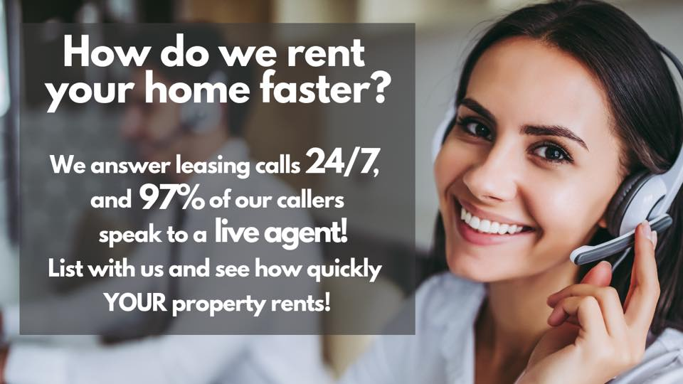 Our leasing line rents your home faster